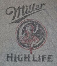 Miller High Life Beer Officially Licensed T-Shirt Adult Men's Logo Style Tee