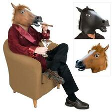 Horse Head Mask Creepy Halloween Costume Party Theater Prop Latex Rubber Novelty