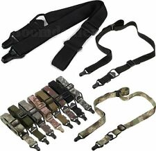 Tactical 1/2 Single/Two Point MS3 Multi-Mission Sling Nylon Strap Adjust Slider