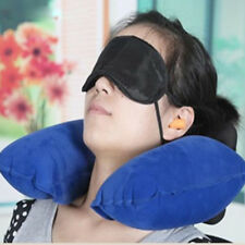 Travel Pillow 3-in-1 Inflatable U Shape Neck Pillow Headrest Cushion