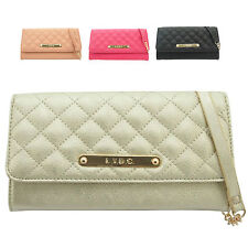 Ladies LYDC Designer Faux Leather Quilted Purse Clutch Bag Handbag Boxed PL271