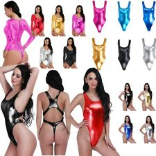 High Cut Sexy One Piece Bikini Thong Swimsuit Monokini Swimwear Leotard Bodysuit