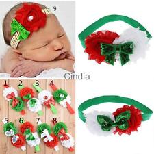 Sequine Baby Elastic Flower Bowknot Hair Band Headband Headwrap Christmas Gifts