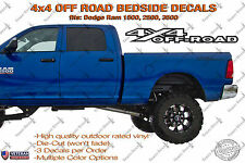 4x4 Off Road Bedside Vinyl Decals Fits Dodge Ram 1500 2500 3500 Power Wagon