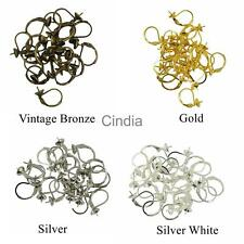 20pcs Earring Findings Brass Earwire Hoop Hook Leverback Gold Silver Bronze