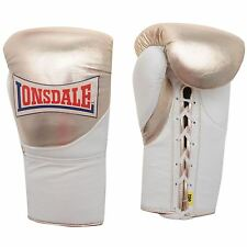 Lonsdale Ultimate Fight Boxing Training Gloves Gold/White MMA Muai Thai Fitness