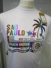 Mens Sao Paulo Printed Beach Soccer T-Shirt- Get Ready For World Cup 2014 Brazil