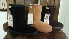 Genuine Leather Upper Australian Wool Mens Short Classic UGG Boots