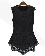 Casual Tops Sleeveless Summer Women T-Shirt Lace Fashion Blouse New Vest Tank