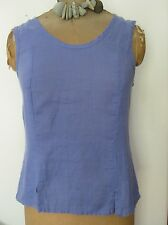 FLAX Linen FITTING TANK top blouse P S M L 1G 2G 3G camisole White & COLORS