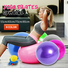 SWISS BALL YOGA HOME GYM EXERCISE BALANCE PILATES EQUIPMENT FITNESS BALL