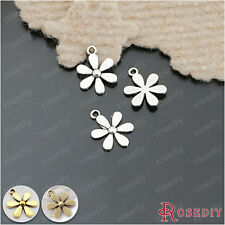 50PCS 14MM Zinc Alloy Flower Charms Jewelry Findings Accessories 26307