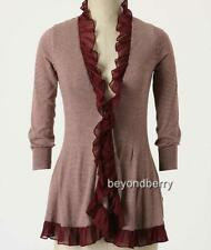 NEW Anthropologie Guinevere Steamed Cappuccino Cardi  Size S