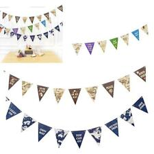 Funny Party World Map Style Flags Banner Bunting Decoration