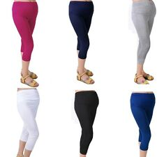 Capris Cotton Maternity 7 Pant Comfortable Elastic Pregnant Women Leggings