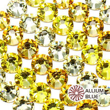SWAROVSKI 2028/2058 Crystal Round Flatback Rhinestone SS5-SS34 YELLOW& BROWN Mix