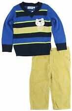 Titicos Babies Baby Boys Infant Arctic Bear V-Neck Cardigan Sweater 2Pc Pant Set