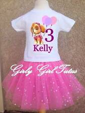 Girls Paw patrol Pink Birthday Tutu Outfit Dress Set