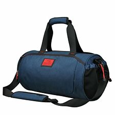 Duffel Style Carry On Sports Travel Bag Gym Shoulder Strap Zippered Compartments