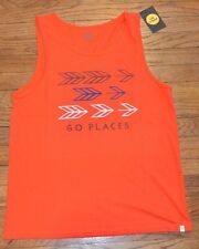 Life is Good Tank top Sleeveless T-Shirt Authentic Tee Men's Shirt GO PLACES