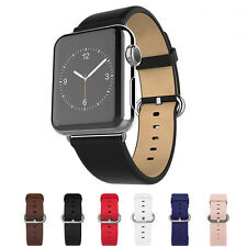 Genuine Leather Wrist Watch Band Strap Bracelet For Apple Watch iWatch 38mm/42mm