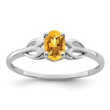 Sterling Silver Oval Citrine November Birthstone Ring 1.33 gr Size 5 to 10