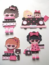 3D ~ U Pick - Girl Shopping Car Packages Scrapbook Card Embellishment 579