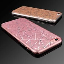 For Apple iPhone 5 5s SE 6 6S Plus Bling Ultra thin Rubber Clear Hard Case Cover