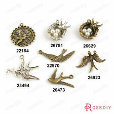 Zinc Alloy Swallow Charms Pendants Jewelry Findings Accessories 22164