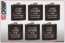 Groomsman Gifts Personalized Engraved Flask, Wedding Bridesmaid Party