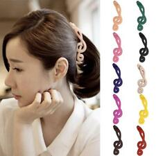 Women Acrylic Musical Notes Butterfly Banana Clip Hair Accessories