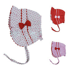 1pc Infant Newborn Girl Baby Polka Dot Bucket Sun Hat Cap Beanie Headband YM