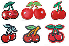 Red Cherry Iron / Sew On Embroidered Patch Applique Motif *buy1 get1 half price*