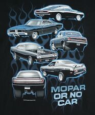 Mopar or No Car T-shirts - Barracuda, Charger, Road Runner & Duster 100% Cotton