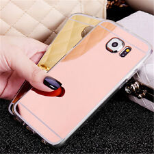 Ultra-thin Soft Silicone TPU Mirror Case Cover For Samsung Galaxy Smartphone HOT