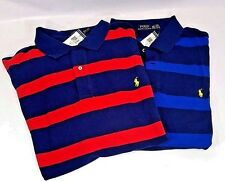 Polo Ralph Lauren Mens Big Tall Striped Mesh Polo Shirt 2XLT 3XLT 4XLT Blue NWT