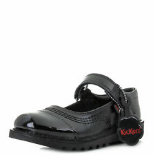 Girls Kids Kickers Kick Pop Junior Leather Black Mary Jane School Shoes Shu Size
