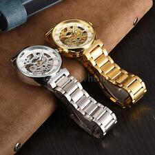 WINNER Stainless Steel Self Wind Mechanical Automatic Skeleton Wrist Watch P4Q5