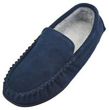 Mens Berber Fleece Lined Moccasin Slippers