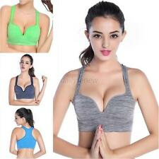 Women Racerback Sports Bras Seamless Padded Bra Exercise Yoga Fitness Tank Tops