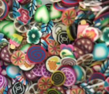 Mixed fimo cane slices for nail art,dolls house,card making