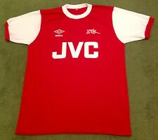 Arsenal Retro 80s JVC Home Shirt Red New All Sizes/Sleeves