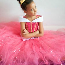Girl's Princess Dress, Sleeping Beauty,Inspired, & Gloves,Age 3 up to 12 Yrs