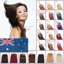 100% Brazilian Remy Human Hair Extensions Micro Ring Bead Loop Tip Hair AU Ship
