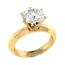 1.9 ct D/VVS1 Simulated Diamond Solitaire Wedding Engagement Ring Solid Gold