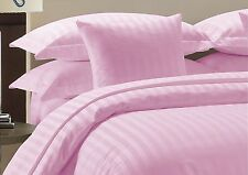 Egyptian Cotton 800 1000 TC Pink Solid & Striped US Bedding Set's All Size