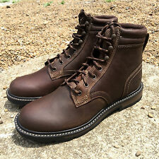 "ARIAT MEN'S GROUNDBREAKER 6"" LEATHER BROWN LACE UP HIKING BOOTS 10016256"
