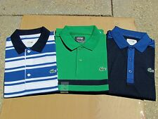 New Lacoste Sport Polo With New Crocodile Application Logo Blue & Green Sz Large