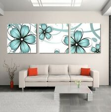 3 Pcs Flowers Wall Art Home Decor Painting Pictures On Canvas Prints No Frame