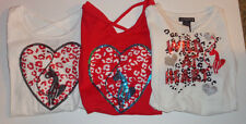 Baby Phat Girls Shirt Baby Phat Logo on Front Heart Cat  Various Sizes NWT